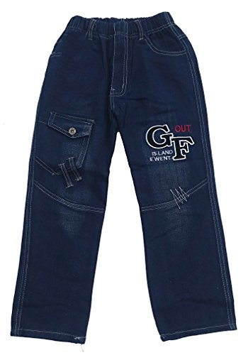 Bequeme Jungen Jeans mit rundum Gummizug, in Blau, Gr. 92/98, J230.2e