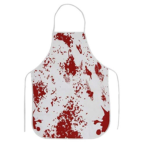 Zu Machen Scary Kostüm - Qeedio Halloween Kostüm Scary Bloody Butcher Schürze Unisex Horror Killing Bloodstains Schürze Halloween Theme Props
