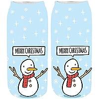 Zolimx 3D Print Socken Weihnachtensocken Damensocken Frauen Cute Christmas Erstaunliche Neuheit Söckchen Baumwollesocken