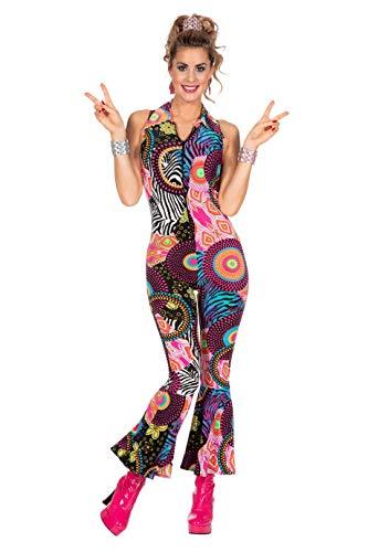 L3201720-38 Damen Hippie Overall-Catsuit-Kostüm Gr.38 Catsuit Overall