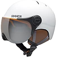 SINNER rodmann Crystal en ciclismo casco de esquí con visera, otoño/invierno, unisex, color Blanco - blanco mate, tamaño extra-small