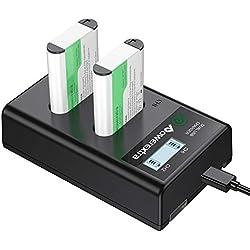 Powerextra Sony NP-BX1 1600mAh 2 Lot de Batterie de Remplacement et Chargeur Double d'Affichage LCD avec USB pour Sony NP-BX1, NP-BX1/M8 Sony Cyber-Shot DSC-RX100,DSC-RX100 II,DSC-RX100M Il