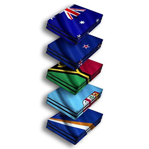 atFoliX Designfolie kompatibel mit Sony PlayStation 4 Pro PS4 Pro, Skin Aufkleber (Flaggen aus Australien und Ozeanien)