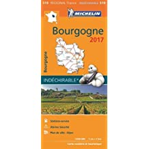 Carte Bourgogne Michelin 2017