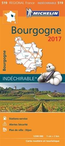 Carte Bourgogne Michelin 2017