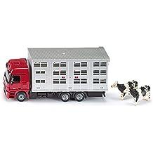 Siku 2713 - Camión transportador de ganado y vacas, varios colores
