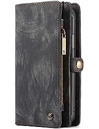 a159f01b5b60a Apple iPhone 8 8 Plus iphone X XS XS Max XR Case Hülle Geldbörse mit Kredit  Kartenfächer  Geldscheinfach mit Reißverschluss  Premium…