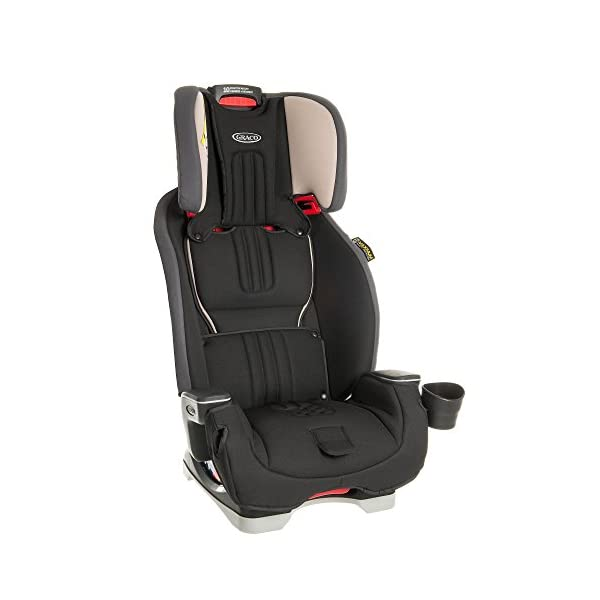 Graco Milestone All-in-One Car Seat, Group 0+/1/2/3, Aluminium Graco Group 0+/1/2/3 can be used for kids from birth up to 12 years of age Easily converts to and from the three riding modes The headrest can be adjusted easily with one hand to grow with your child 2