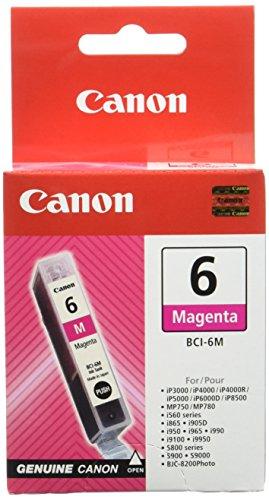 Canon BCI-6 M original Tintenpatrone  Magenta für Pixma Inkjet Drucker iP3000-iP4000-iP4000R-iP5000-iP8500 - Tinte Ip4000 Drucker Für Canon