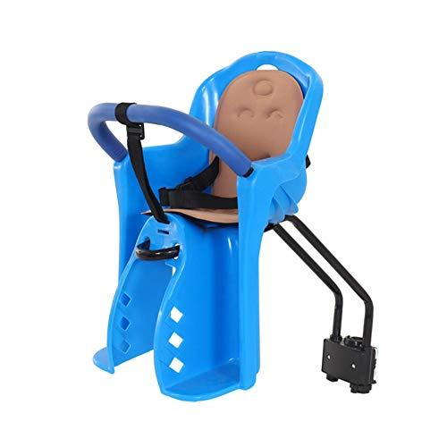 Fahrrad Baby Seat Front Mount, Fahrradträger Baby Seat mit dem gepolsterten und verstellbaren 5-Punkte-Gurt, geeignet für 0-4 Jahre altes Baby,Blue