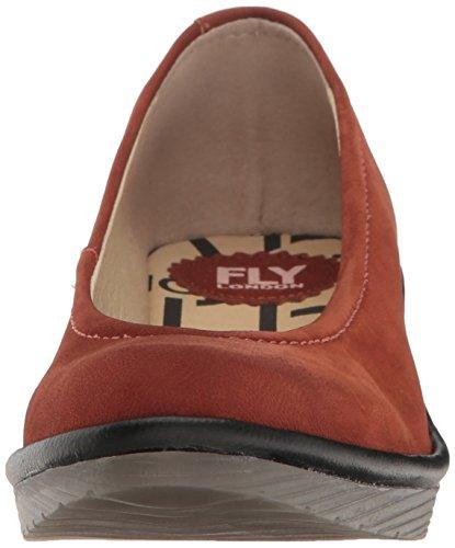 Fly London  Pump, Sandales Compensées  femme Rouge (Brick/Black 074)