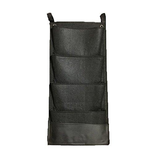 Glovion Verticale Montaggio a parete Growing Borse con strato impermeabile Sicuro da usare interna esterna (4 Pocket)