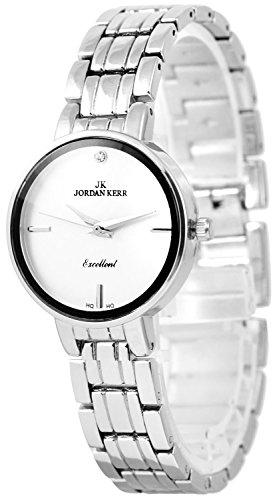 Dezente JORDAN KERR Armbanduhr für Damen Swarovski Stein + Geschenkebox, ZJ099D51N/1