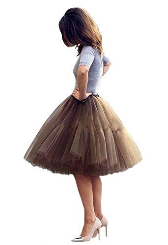 Tüllrock Petticoat tüll Unterrock ballett tutu rock damen Ballettrock Petticoat skirt 5 schichten Prinzessin Rock Tutu krinoline dress 50s Mode Straße schießen Kleid Weinlese Retro Kleid A line Kleid (Cinderella Ballett Kleid)