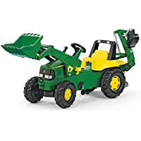 Rolly Toys 811076 Franz Cutter John Deere Pedal Tractor with Loader And Rear Digger