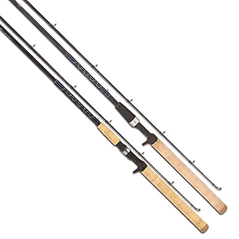 TICA Bass Rods, Black, Fast, 6.6-Feet/12-20-Pound