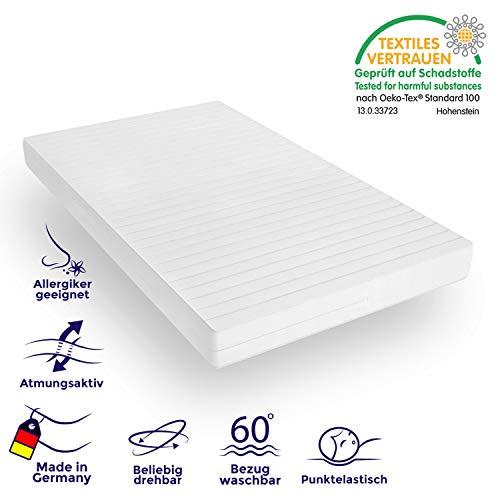 Mister Sandman orthopädische 7-Zonen-Matratze aus Kaltschaum für besseren Schlaf - Kaltschaummatratze H2&H3 mit Liegezonen, abnehmbarem Mikrofaserbezug, Höhe 15cm (140 x 200 cm, H2&H3)