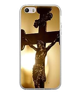 PrintVisa Juesus On Cross High Gloss Designer Back Case Cover for Apple iPhone 4