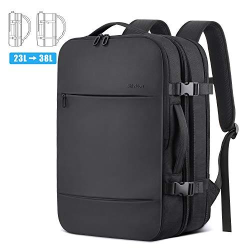 SHIELDON Reiserucksack, Supergroß Laptop Rucksack, 17 Zoll Erweiterbar Diebstahlsicher Wasserabweisend...