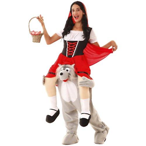 Kostüm Rotkäppchen und der Wolf Größe M/L Unisexkostüm Märchenkostüm Herren Damen (Kostüme Der Rotkäppchen Und Wolf)