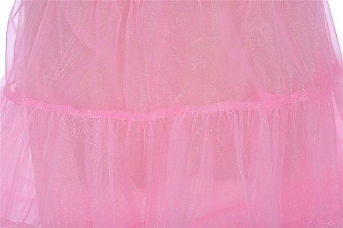 Brinny Vintage Ladies 50s Rockabilly Petticoat Genou Jupe Tutu Jupe Rose