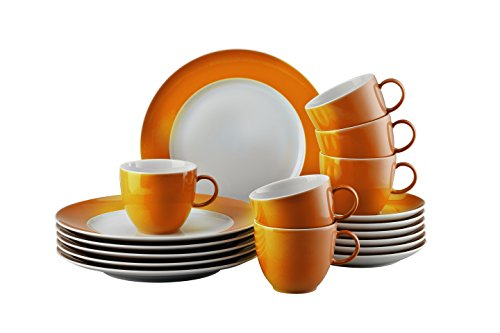 Thomas 10850-408505-28352 Sunny Day Orange Kaffeeset 18-teilig Kaffeeset, Porzellan, Orange,...