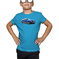 Billion Group | Blue Coupe | Germany Power | Fast Car Club | Boys Classic Crew Neck T-Shirt