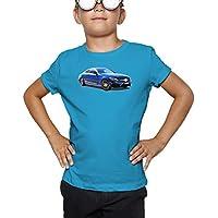 Billion Group | Blue Coupe | Germany Power | Fast Car Club | Boys Classic Crew Neck T-Shirt