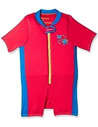Speedo Sea Squad Traje de Flotación, Unisex bebé, Lava Red/Neon Blue, L