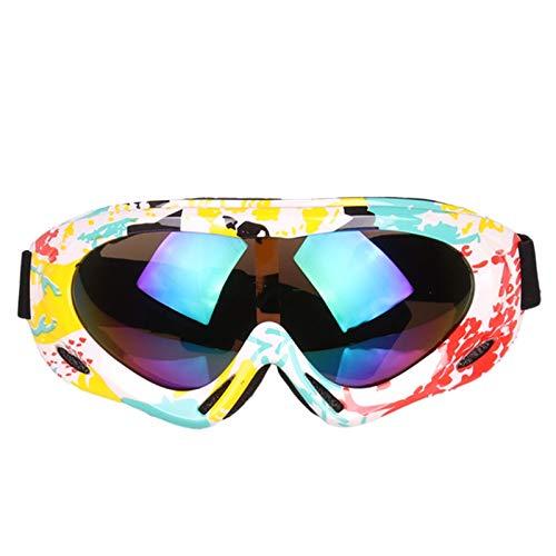 Lafeil Sportsonnenbrille Ski Kinder Einzelne Schicht Erwachsenen Kinder Bunte Skibrille Professioneller Schneebrille Windschutzscheibe Nicht Für Straßenverkehr Motorradspiegel Im Freien Gelb Weiß