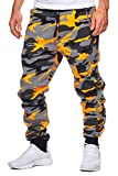 OneRedox Herren Jogging Hose Jogger Streetwear Sporthose Modell 794 Orange XXL