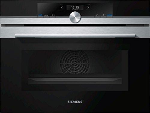 Siemens CM633GBS1 iQ700 Backofen Elektro / 45 L / Edelstahl / Integrierte Mikrowelle / LED-Innenbeleuchtung (Kompakt Mikrowelle Watt 1000)