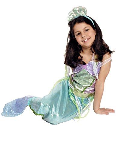 Kleine Meerjungfrau Udine Kostüm Mädchen Gr. 140 (Kostüm Kleine Zubehör Meerjungfrau)