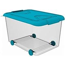 Plastiken M259222 - Caja multi-box 70 l con ruedas lila