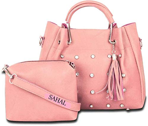 SAHAL Leatherette PU Tassel Cross Sling bag for Women and Girls College Office Bag, Stylish latest Designer Spacious Cross Body Bag Purse with Sling Belt. Gift for Her (BABY PINK)