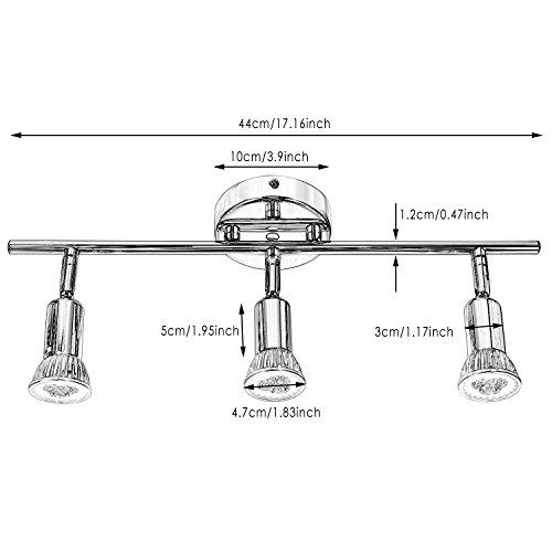 Homdox Deckenleuchte Deckenbalken LED Deckenspot Deckenstrahler Deckenlampe Spots Strahler Wohnzimmerlampe Deckenbeleuchtung