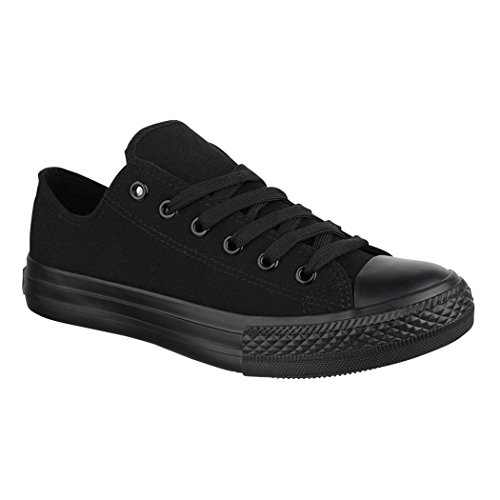 Jumex Unisex Sneaker Textil Turnschuh Low top Chunkyrayan 36-46 ZY9032-Black-39 (Schwarzen Frauen Flache Schuhe)