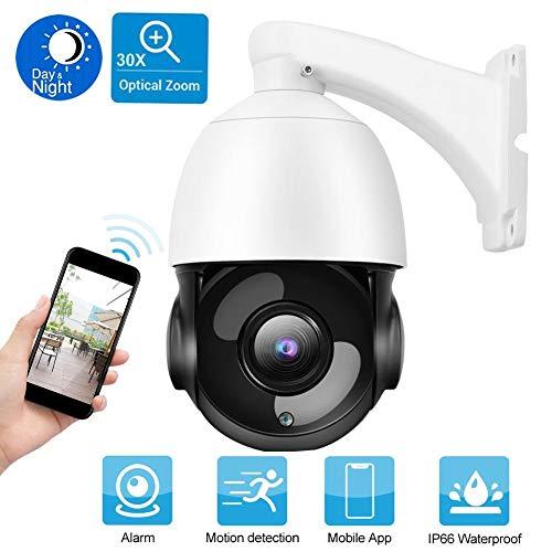 5MP Super HD PTZ Netzwerk IP Dome Kamera 30X Optischer Zoom Überwachung Kamera für ONVIF mit Horizontaler 360 ° Drehung, Automatischer Fokussierung usw.