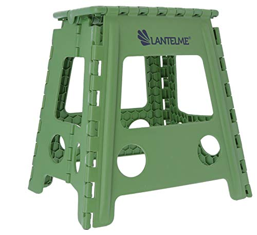 Lantelme 2 Stück Klapphocker Set Kunststoff Hocker Farbe grün Sitzhocker Wetterfest Haushalt Outdoor Garten Camping 4804