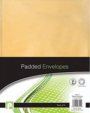 8Peel & Seal Größe C Gepolsterte Umschläge//2Packungen von 4 (Clear Stamp Holder)
