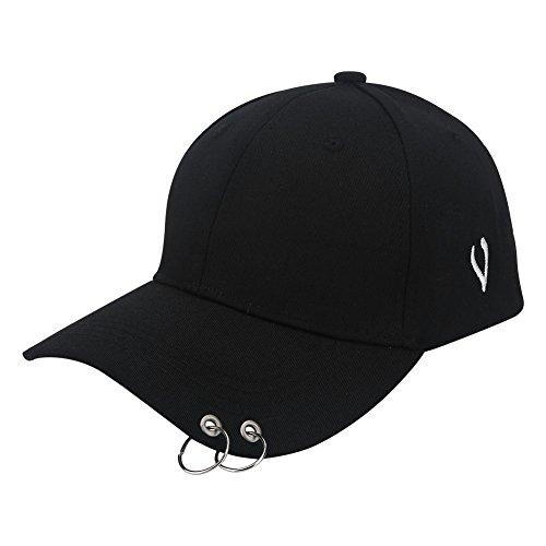 VGEBY Unisex Basecap Damen Herren Kappe Baseball Cap Mütze für Sport Outdoor Schwarz & Weiß Jungen Mädchen (Farbe : Schwarz)