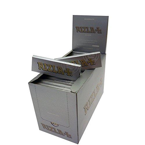 RizlaTrade 5000 CARTINE RIZLA Silver Argento Corte per Sigarette 100 ASTUCCI 50 FOGLIETTI