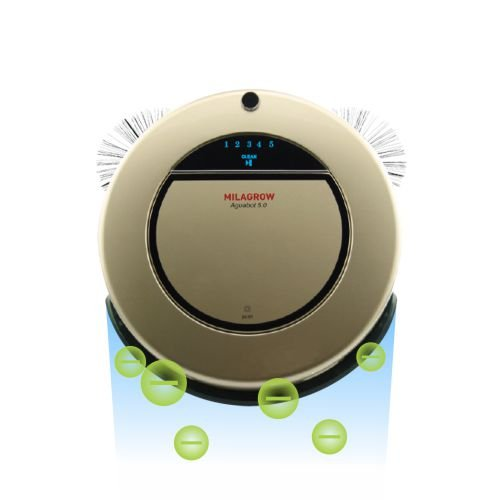 Milagrow Aguabot 5.0 Anion Generator - India's 1st Ionizing, Full Wet & Dry Floor Mopping Robotic Vacuum Cleaner  available at amazon for Rs.32990