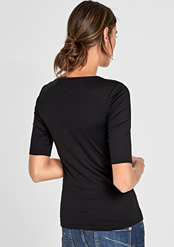 s.Oliver BLACK LABEL Damen T-Shirt Schwarz (Happy Black 9999)