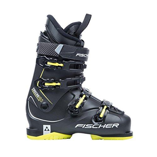 Skischuhe Fischer Cruzar X 8.5 Thermoshape Flex 85 Skistiefel Modell 2018 (schwarz/gelb, MP25,5 EU39) (Alpin-ski-stiefel)