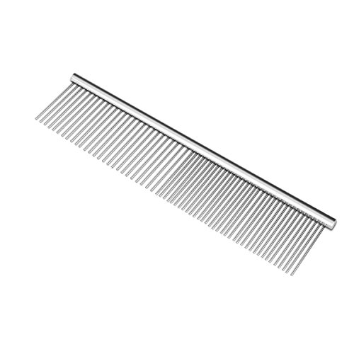 Pinkopink pet dog cat grooming pettine spazzola in acciaio inox per shaggy dogs barber grooming tools 19x 5cm