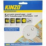 Kinzo 71743 5 Disques Papier abrasif pour décapage peinture Ø 125 mm G80