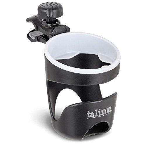 TALINU Getränkehalter für Kinderwagen und Buggy - universell einsetzbar und stabil - passend für Babyflaschen, Trinkflaschen und Kaffeebecher mit einem Durchmesser von 60-80mm