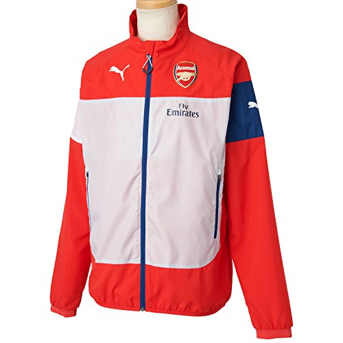 PUMA Herren Jacke AFC Leisure Jacket With Sponsor High Risk Red-Gray Dawn-Estate Blue-White, XL - Polo Stepp Herren Jacke