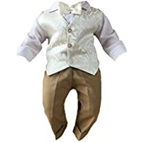 Sommer Taufanzug Festanzug Hochzeitsanzug Cord 3Tlg Set Blau